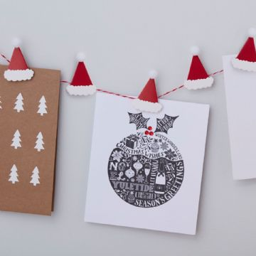 Santa Hat Peg Christmas Card Holder
